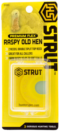 HS STRUT TURKEY CALL DIAPHRAGM PREM FLEX RASPY OLD HEN - for sale