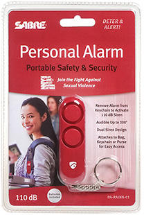 SABRE PERSONAL ALARM 100DB - RED - for sale