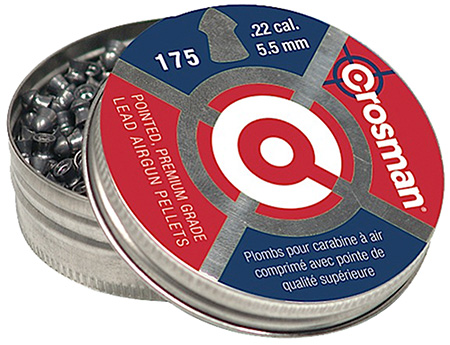CROSMAN .22 POINTED PELLETS 175/TIN - for sale