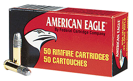 FED AMMO AMERICAN EAGLE .22LR 1240FPS. 40GR. LEAD-RN 50PK - for sale