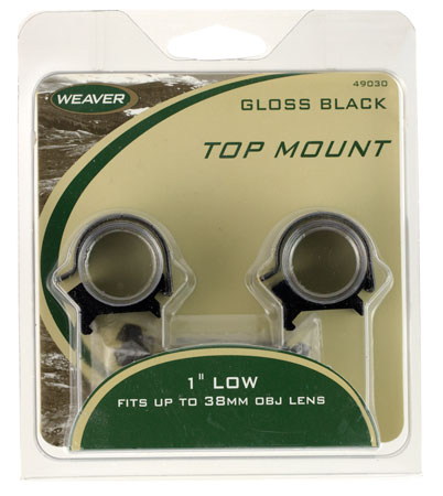 weaver - Top Mount - TOP MNT DETCH RINGS 1IN HI MAT for sale