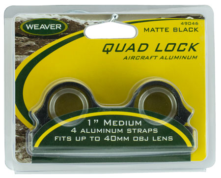 "WEAVER QUAD LOCK RNGS 1"" MED MBLK - for sale"