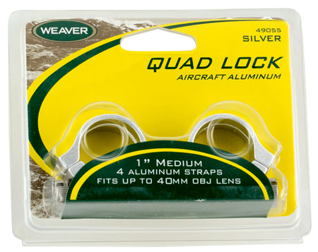 "WEAVER QUAD LOCK RNGS 1"" HI SLVR - for sale"