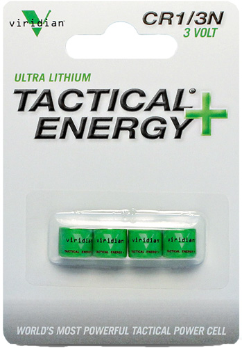 VIRIDIAN 1/3N LITHIUM BATTERY 4PK - for sale