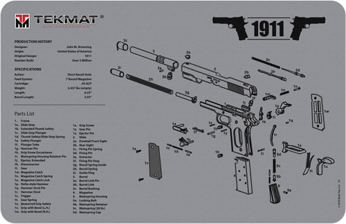 tekmat - Original Cleaning Mat - TEKMAT 1911 GREY - 11X17IN for sale