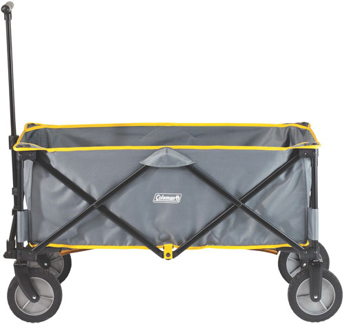 COLEMAN FOLDING CAMP WAGON W/ WHEELS GRAY/BLACK/YELLOW TRIM - for sale
