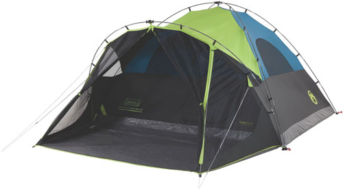 COLEMAN CARLSBAD DARKROOM DOME TENT W/SCREEN ROOM 6 PERSON - for sale