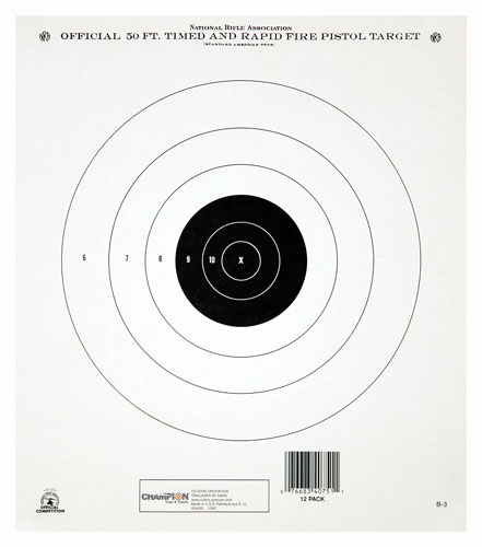 champion - GB3 - NRA GB-3 50 FT TIMED/RF TQ TARGET 12PK for sale