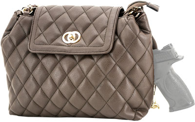 CAMELEON COCO CONCEALED CARRY PURSE-QUILTED STYLE HANDBAG BN - for sale