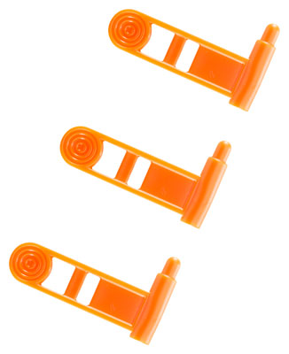 ERGO GRIP CHAMBER SAFETY FLAG FOR PISTOL ORANGE 3-PK - for sale