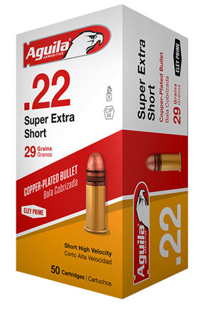 AGUILA AMMO .22 SHORT 1095FPS. 29GR. SP 50-PACK - for sale