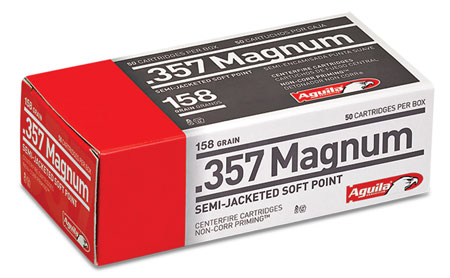 AGUILA 357MAG 158GR SJHP 50/500 - for sale