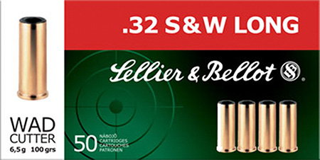 S&B AMMO .32SW LONG 100GR. LEAD-WADCUTTER 50 PACK - for sale