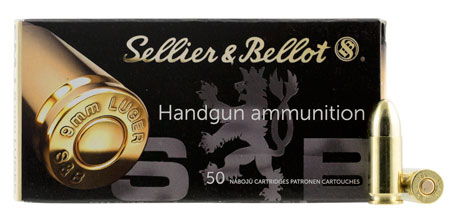sellier & bellot ammunition - Handgun - 9mm Luger - HANDGUN 9MM LUG 115GR FMJ 50RD/BX for sale