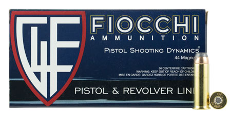 Fiocchi - Shooting Dynamics - .44 Mag - SD 44 MAGNUM 240GR JHP 50RD for sale