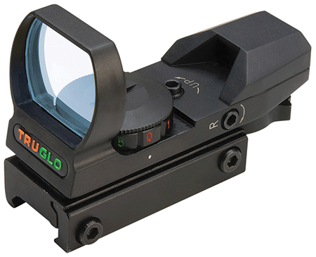 TRUGLO RED DOT OPEN 4 RETICLE BLACK - for sale