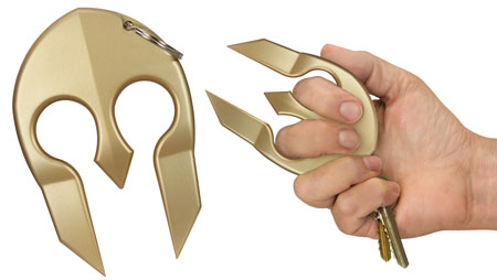 PS SPARTAN SELF DEFENSE KYCHN GLD - for sale