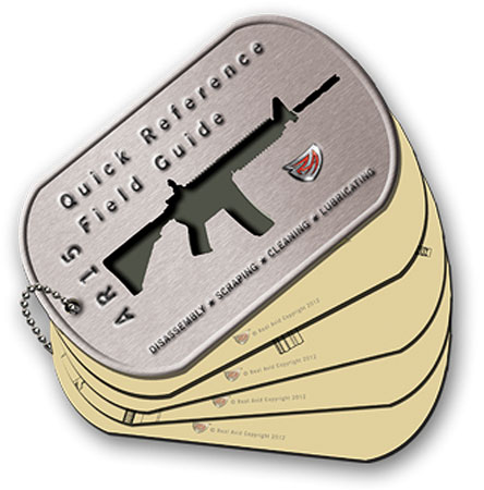 REAL AVID AR-15 FIELD GUIDE AR-15 MAINTENANCE CARDS - for sale
