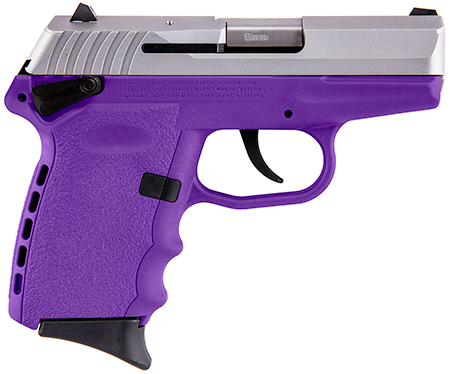 SCCY 9MM POLY PURP/SATIN DAO w/SAFE - for sale