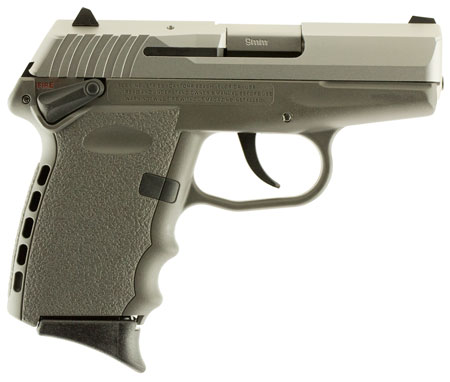 SCCY 9MM POLY GREY/SATIN DAO W/SAFE - for sale