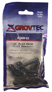 "GROVTEC 1/2"" WOOD SCREWS 12-PACK BLACK - for sale"