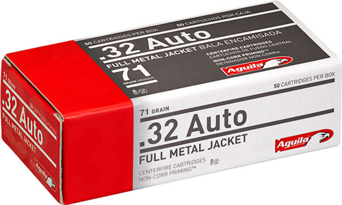 AGUILA AMMO .32ACP 71GR. FMJ-RN 50-PACK - for sale