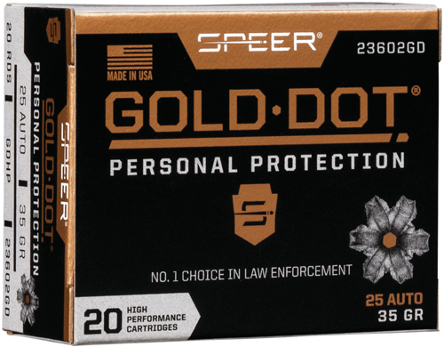 SPR GOLD DOT 25ACP 35GR HP 20/200 - for sale