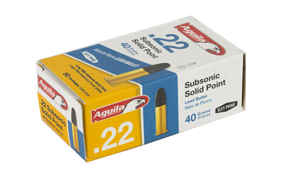 AGUILA 22LR SUBSONIC 40GR 50/1000 - for sale