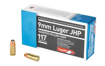 AGUILA 9MM 117GR JHP 50/500 - for sale