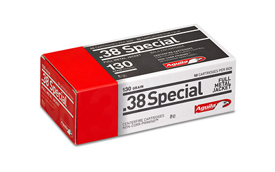 AGUILA AMMO .38 SPECIAL 130GR. FMJ-RN 50-PACK - for sale