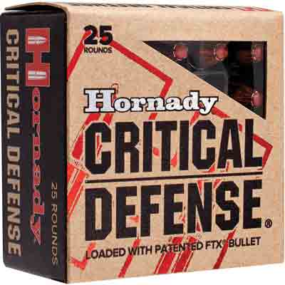 HORNADY AMMO CRITICAL DEFENSE 9X18 MAKAROV 95GR. FTX 25-PACK - for sale