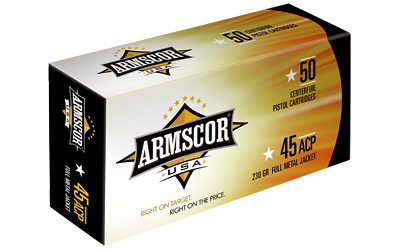 ARMSCOR AMMO .45ACP 230GR. FMJ 50-PACK MADE IN USA - for sale