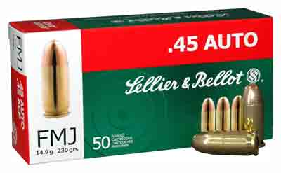 S&B 45ACP 230GR FMJ 50/1000 - for sale