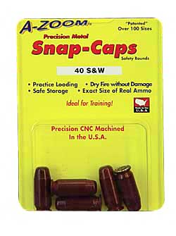 a-zoom - Pistol Snap Caps - 40 SW PSTL METAL SNAP-CAPS 5PK for sale