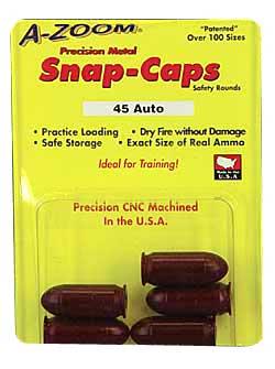 a-zoom - Pistol Snap Caps - 45 AUTO PSTL METAL SNAP-CAPS 5PK for sale