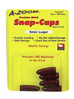 a-zoom - Pistol Snap Caps - 9MM LUGER PSTL METAL SNAP-CAPS 5PK for sale