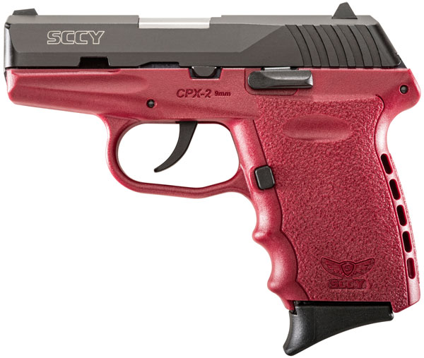 SCCY 9MM POLY RED/BLK DAO 2MAGS - for sale