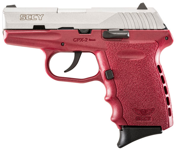 SCCY 9MM POLY RED/SATIN DAO 2MAGS - for sale