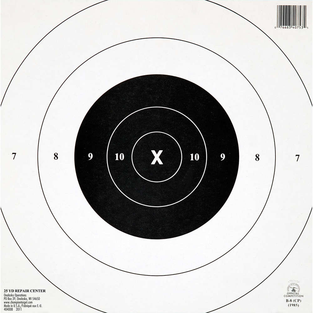 champion - 40753 - NRA GB-8 25YD TIMED/RF TARGET 12PK for sale