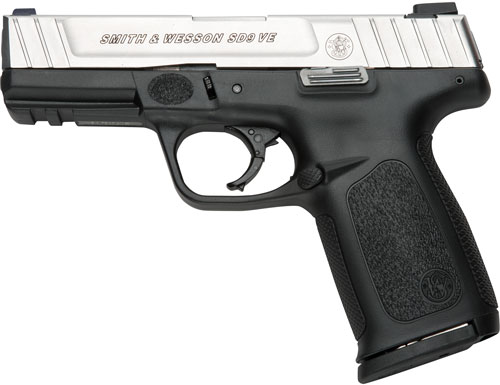"S&W SD9VE 9MM 10RD 4"" DT FS 2MAGS - for sale"