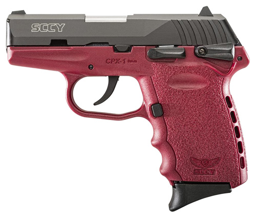 SCCY 9MM POLY RED/BLK DAO W/SAFETY - for sale