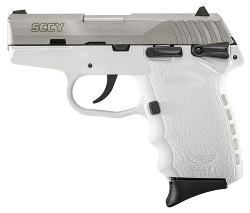 SCCY 9MM POLY WHT/SATIN DAO W/SAFE - for sale