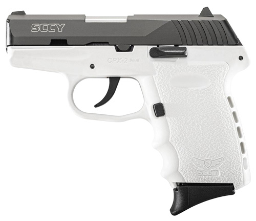 SCCY 9MM POLY WHITE/BLK DAO 2MAGS - for sale
