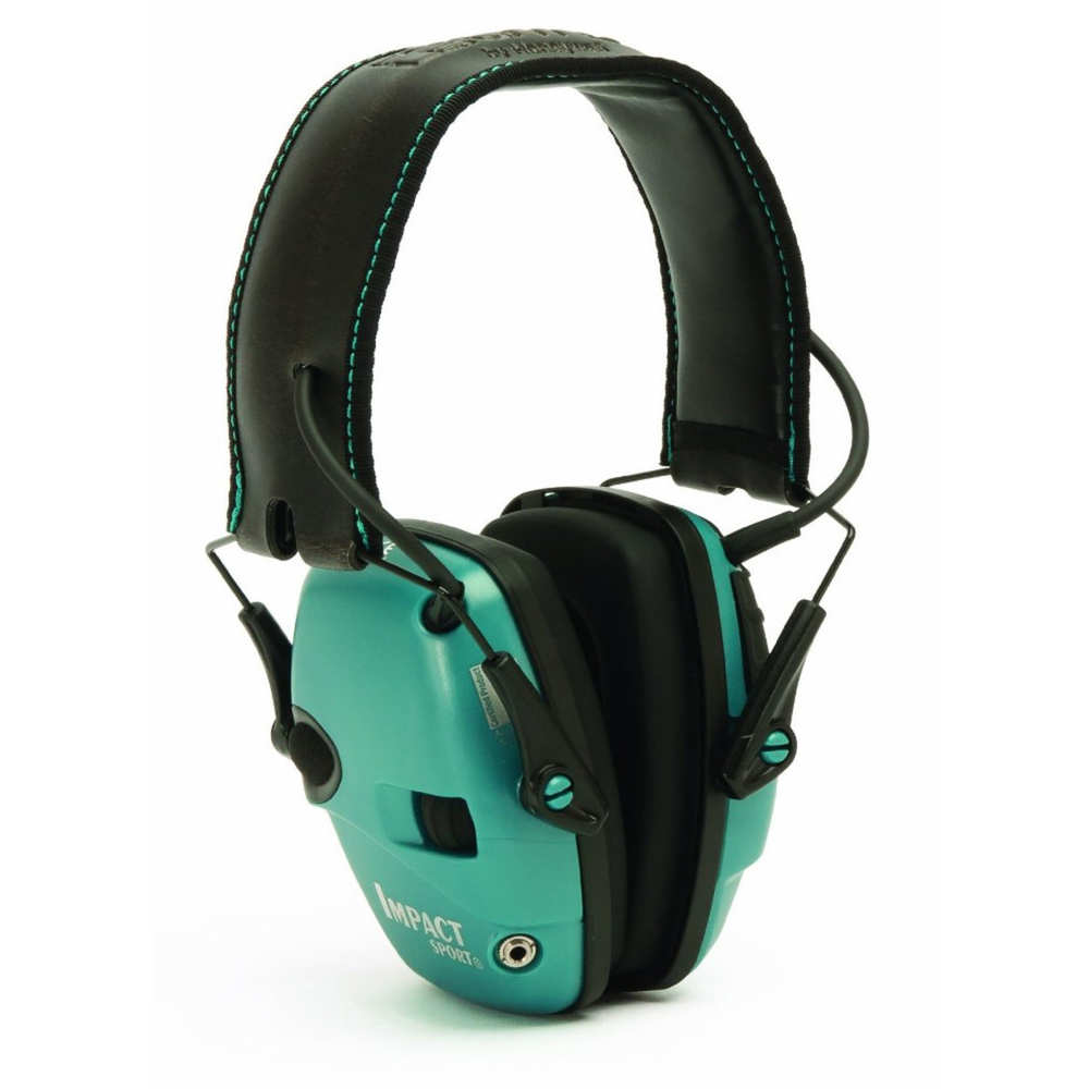 howard leight - Impact Sport - IMPACT SPORT TEAL ELEC EARMUFF NRR 22 for sale