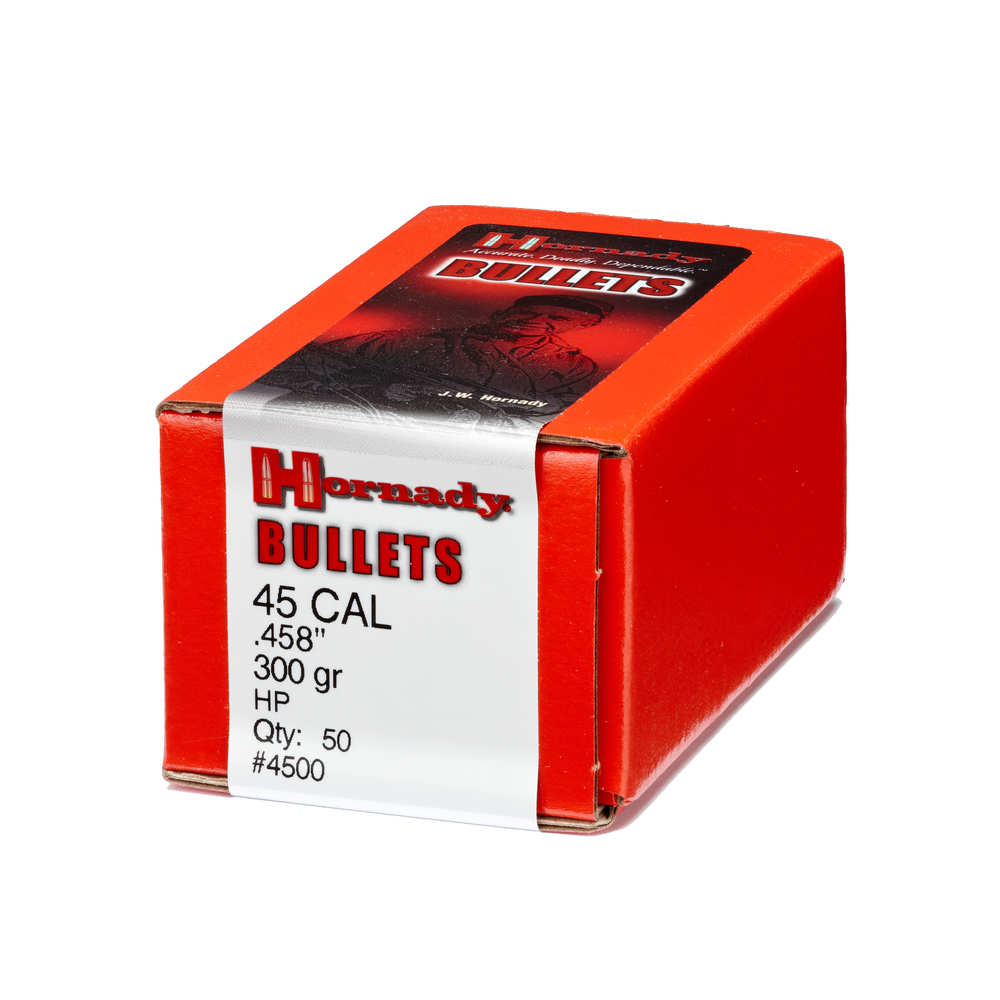 Hornady - InterLock - 45 Caliber - BULLET 45 CAL 458 300 GR HP 50/BX for sale