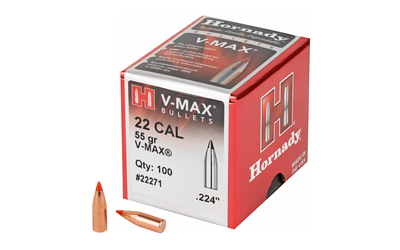 HRNDY V-MAX 22 CAL .224 55GR 100CT - for sale