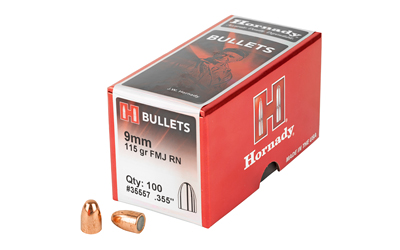 HRNDY FMJ-RN 9MM .355 115GR 100CT - for sale