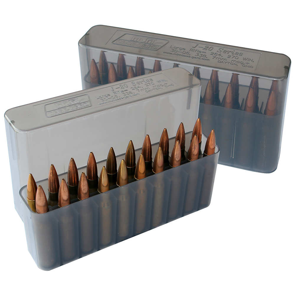 mtm case-gard - Rifle Ammo - SLIPTOP LGE RIFLE CTG BOX 20RD - CLR SMK for sale