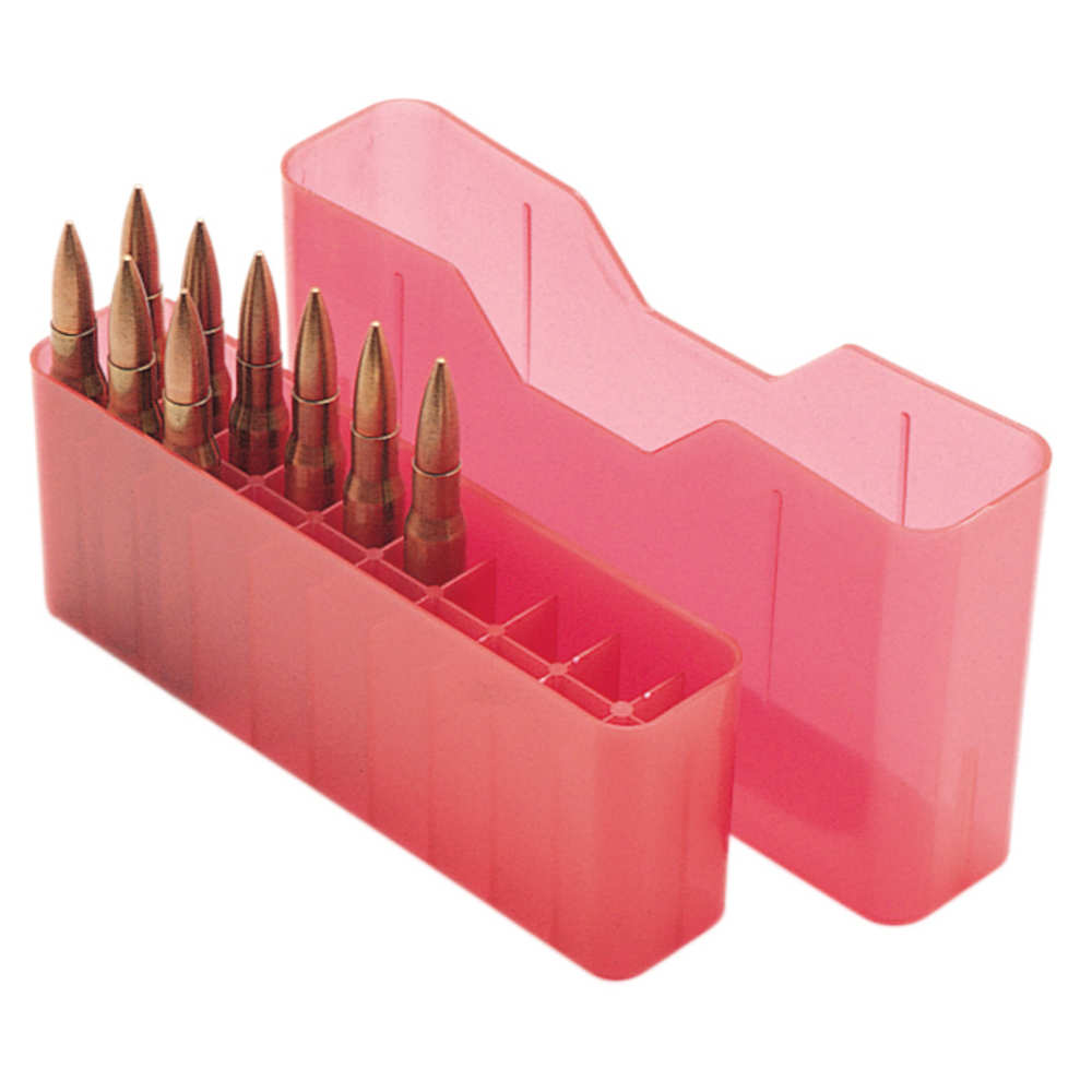 mtm case-gard - Rifle Ammo - SLIPTOP MED RIFLE CTG BOX 20RD - CLR RED for sale