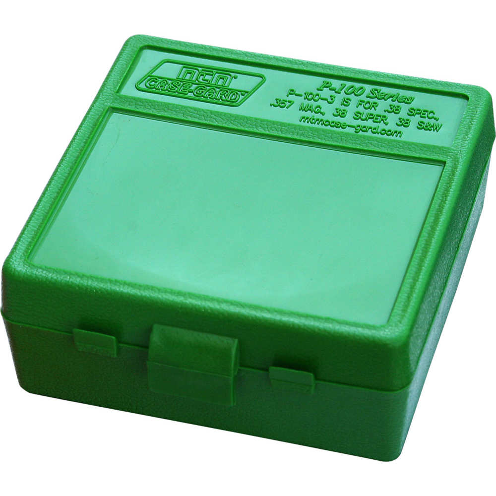 mtm case-gard - Case-Gard - P100 MED HNDGN AMMO BOX 100RD - GREEN for sale